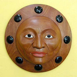 Wooden Masks Square
