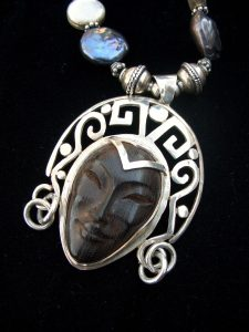 Ebony & Silver Necklace