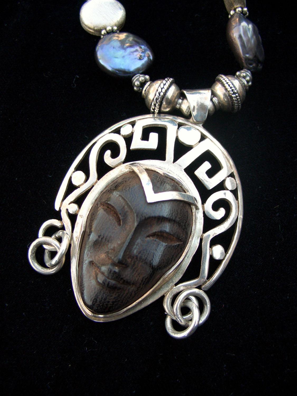 Ebony & Silver Necklace